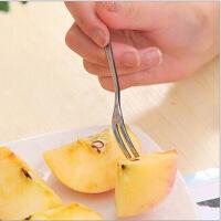 水果叉 不锈钢西餐具甜品叉 便携儿童叉 厨房用品创意时尚十只