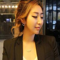 蝴蝶无耳洞大耳环女时尚新款韩版潮流耳钉长款耳夹耳饰品