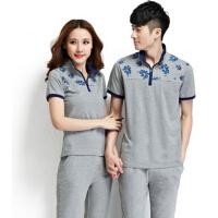 情侣男女运动套装运动服情侣装  运动服套装短袖休闲卫衣