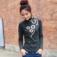 新款女士时尚 韩版女装加厚长袖打底衫高领修身T恤