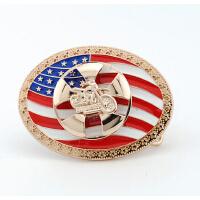 美国旗英国旗360度转动摩托车皮带头 欧美非主流男士个性腰带扣头