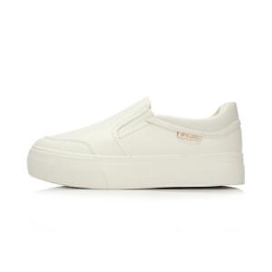 乐途LOTTO女子经典休闲鞋小白鞋黑色运动鞋ELCL002