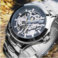新款时尚运动商务钢带机械表男表个性时尚休闲镂空手动机械品质男士手表