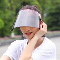女士时尚休闲遮阳帽 太阳帽子骑电动车防晒帽遮脸大沿檐空顶