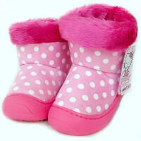 儿童雪地靴女童靴子宝宝加绒保暖 靴保暖鞋子