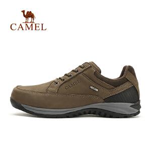 camel骆驼户外男款徒步鞋 磨砂皮低帮男鞋减震防滑户外鞋