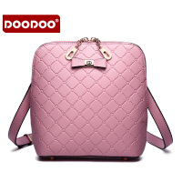 【支持礼品卡】DOODOO 2017新款包包手包时尚女包日韩蝴蝶结菱格单肩斜跨女士小方包包 D5106
