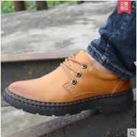 古奇天伦男鞋男士休闲鞋圆头系带男土潮鞋子真皮厚底英伦皮鞋PZ6802