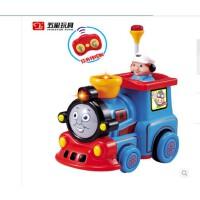 五星玩具遥控音乐火车 红外线遥控托马斯小火车卡通车儿歌灯光音