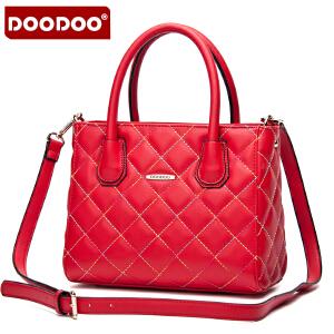 DOODOO 2017新款包包女包手包菱格时尚包包手提单肩斜跨女士包包 D5033 【支持礼品卡】