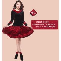 广场舞服装 新款套装 时尚金丝绒舞蹈服裙裤拉丁舞成人女跳舞表演服