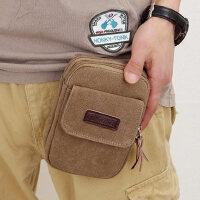 5.5寸手机包 男士穿皮带腰包多功能帆布休闲包迷你小包挂包5.8寸