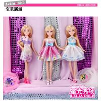 乐吉儿芭比娃娃公主过家家套装 手工diy服装 大礼盒儿童玩具女孩