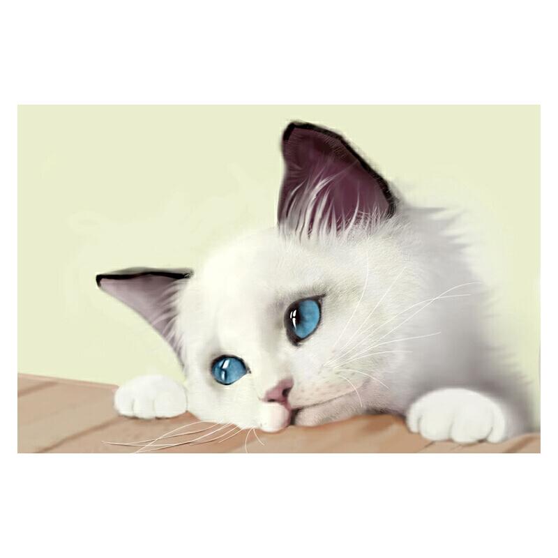 7【萌宠喵星人】猫咪 可爱 装饰 木质500/1000片拼图成人益智玩具