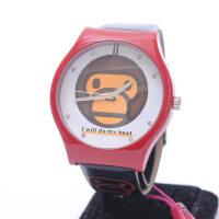 卡通小猴子女士手表 皮带儿童表 时尚时装学生腕表