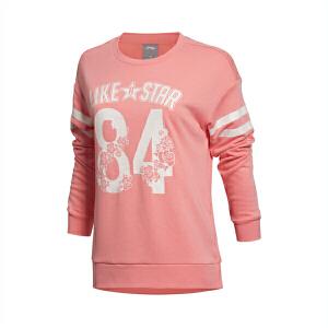 李宁运动生活系列 女装 常规收口运动卫衣套头衫AWDK702