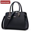 【支持礼品卡】DOODOO 2017新款包包女包欧美风OL定型包时尚手提中号包单肩斜跨女士包包 D5022