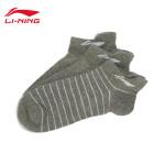 李宁训练系列运动短袜船袜三双装AWSL027