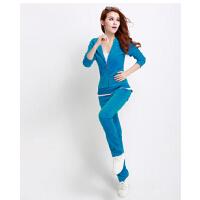 时尚潮流装运动服  女士天鹅绒套装 运动套装女款新款休闲套装