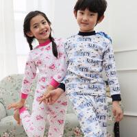 彩桥童装儿童内衣套装纯棉男童女童棉毛衫中大童学生睡衣打底内衣春装新款