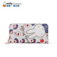 Miffy米菲 2016春夏新拉链女士钱包 小清新学生长款多卡位手拿钱包女休闲百搭手拿包