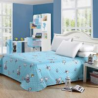 绚典全棉床单单件 棉质斜纹印花超大床单 单人双人床上用品