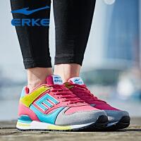 鸿星尔克正品女鞋新款运动鞋复古E字跑步鞋耐磨女慢跑鞋