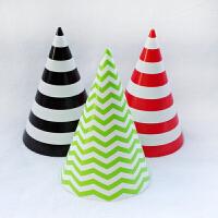 孩派/生日派对用品套装/节日聚会/圆点波点纸帽子/圆点帽子/1个