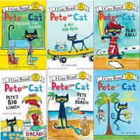 I Can Read 原版儿童英文绘本 My First Pete the Cat皮特猫 适合0-6岁宝宝启蒙 来自美国的时尚潮猫 系列5本套装