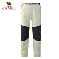 camel骆驼户外男款速干长裤 新款透气快干旅游速干裤