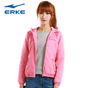 鸿星尔克女装新款加厚夹克纯色简约女士外套都市休闲百搭