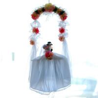 浪漫秋千喜庆用品 纯手工布艺新娘婚庆挂件婚房装饰品