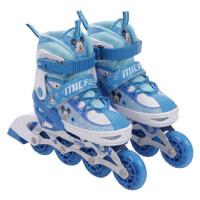 户外直排溜冰鞋套装 米奇闪光可调男孩儿童直排轮溜旱冰鞋