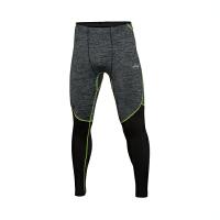 李宁男子跑步系列常规收口紧身型训练紧身运动长裤AULL003