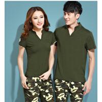 韩版男女款卫衣套装女装潮  迷彩服情侣装短袖短裤运动套装