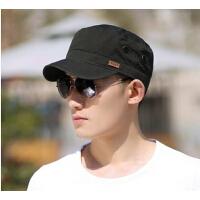 男士遮阳帽休闲鸭舌帽   帽子时尚男款   韩版潮棒球帽户外太阳帽平顶军帽