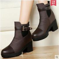 百年纪念马丁靴潮女短靴新款女鞋短筒女靴内增高靴子1085
