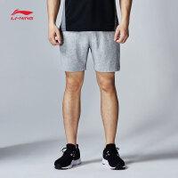 李宁夏季男装运动生活系列纯棉运动短裤卫裤男士运动服AKSK117