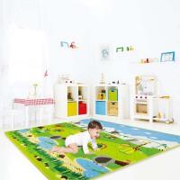 德国Hape宝宝爬行垫XPE高密度材质加厚1cm儿童环保双面玩具E8063 180*150*1cm厚