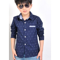 童装男童衬衣中大男童装衬衫  韩版儿童长袖衬衫