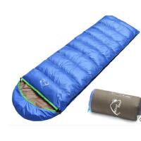 户外加厚保暖信封带帽野营睡袋羽绒睡袋成人睡袋户外露营装备