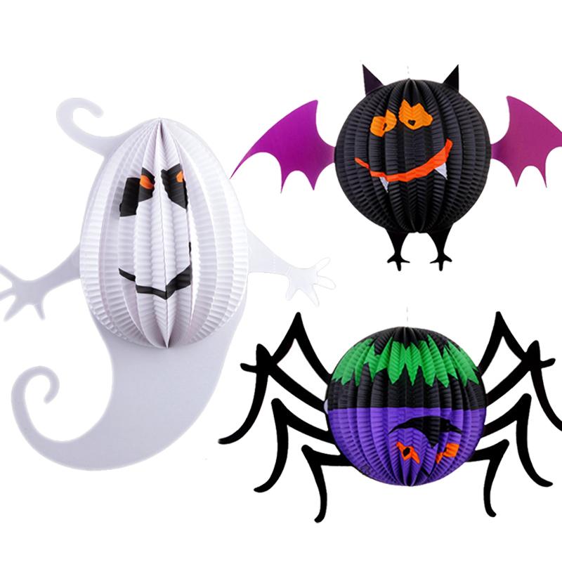 万圣节儿童可爱创意手工幽灵灯笼制作图解