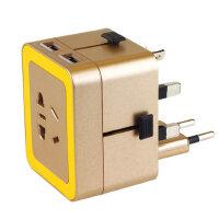 户外旅行多功能转换插头插座双USB 商务旅游