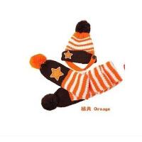 可爱宝宝儿童帽子围巾两件套装宝宝毛线帽 儿童保暖帽男女童帽子