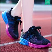 莫蕾蔻蕾夏季新款网面透气跑步鞋女气垫鞋运动休闲单鞋内增高女鞋