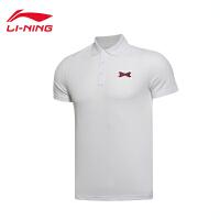 李宁男子夏季韦德系列短袖POLO衫男士运动服上衣APLL033