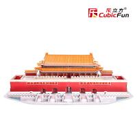 乐立方3D纸模纸板DIY建筑立体创意拼图 北京天安门立体模型MC126h