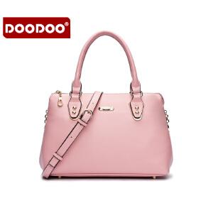 DOODOO 2017新款包包女包欧美风范OL手提包时尚简约百搭单肩斜跨女士包包 D5133 【支持礼品卡】