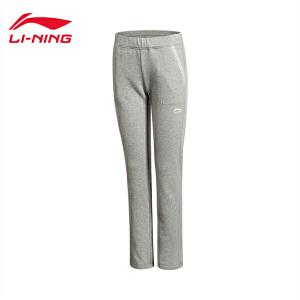 李宁女装运动生活系列舒适平口运动卫裤女士运动服AKLK322