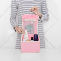 清新斜纹系列旅行收纳包三件套洗漱包化妆包数码收纳包